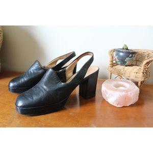 Vintage Shoes - VTG 1970s Rare Platform Heels
